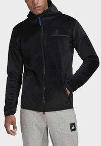 adidas Performance - ADIDAS Z.N.E. FULL-ZIP VELOUR HOODIE - Zip-up hoodie - black - 4