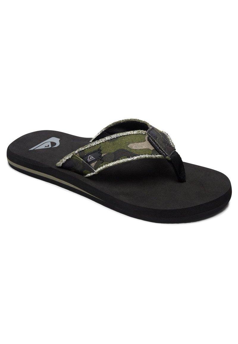 Quiksilver - MONKEY ABYSS YT  - T-bar sandals - green/green/black