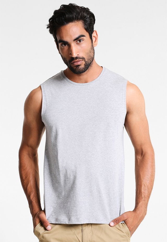 Top - mittled light grey