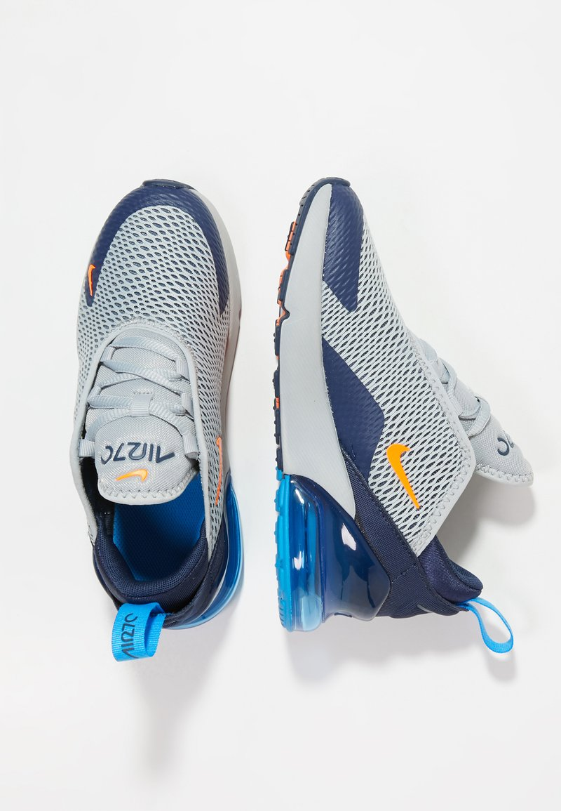 Nike Sportswear - AIR MAX 270 UNISEX - Sneakers laag - wolf grey/total orange/midnight navy/photo blue