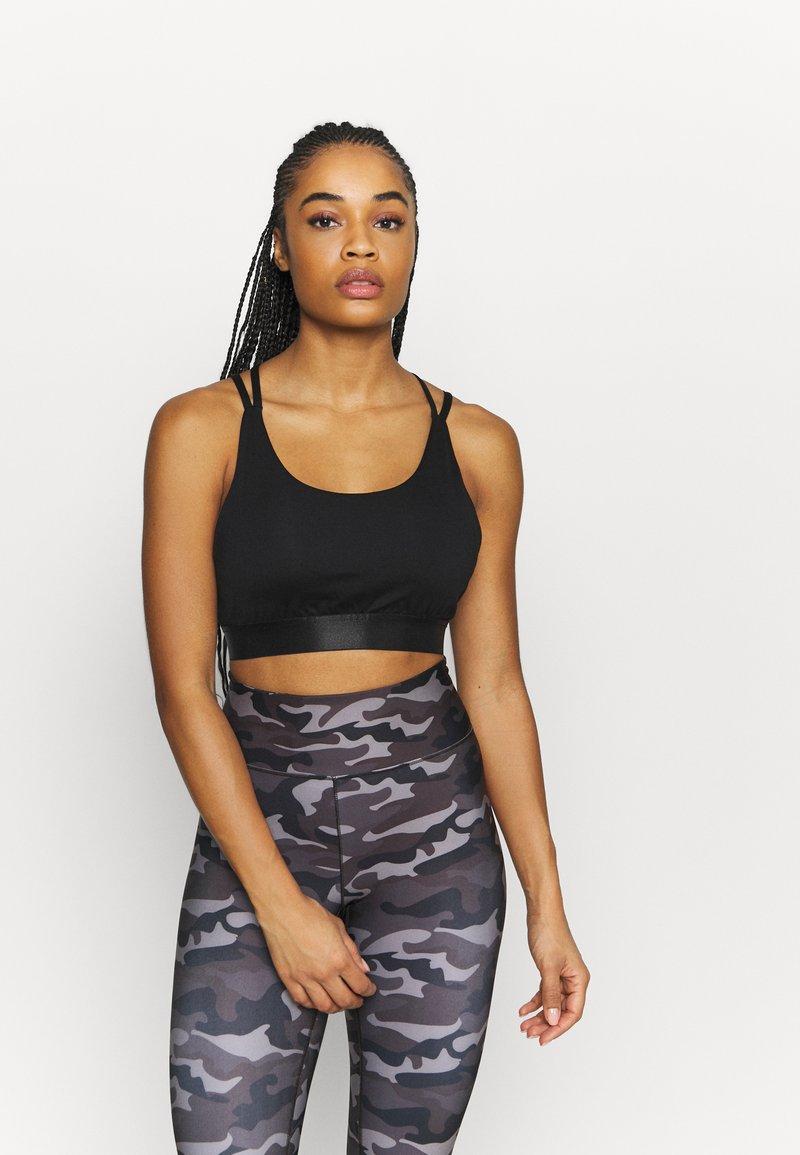 Even&Odd active - Light support sports bra - black