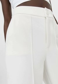 Stradivarius - Trousers - white - 3