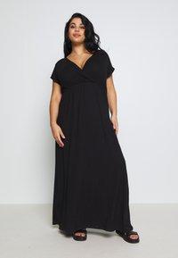 Zign Curvy - Maxi dress - black - 0