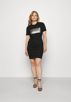 JONE TEE - Print T-shirt - jet black