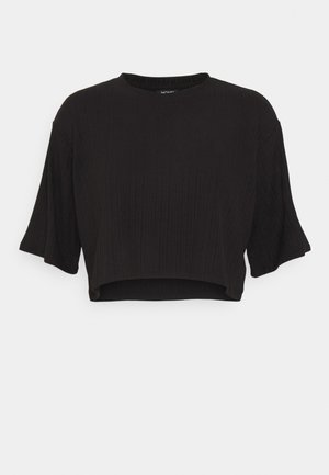 T-shirts med print - black dark