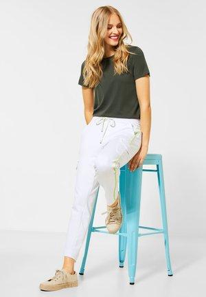 Cargo trousers - weiß