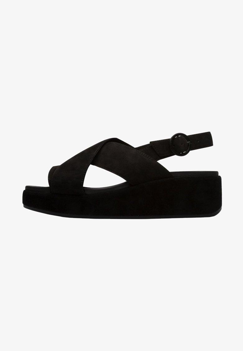 Camper - Sandalias con plataforma - black
