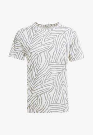 JPRSAVANNAH TEE CREW NECK - Print T-shirt - blanc de blanc/light grey melange