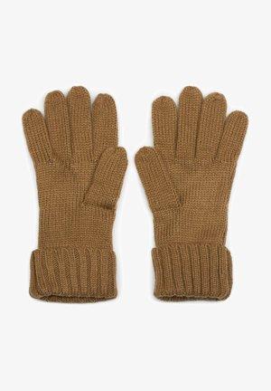 MIT ZOPFMUSTER UND DOPPELTEM BUND - Gloves - cognac
