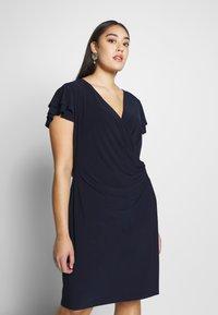 Lauren Ralph Lauren Woman - MID WEIGHT DRESS - Jersey dress - dark blue - 0