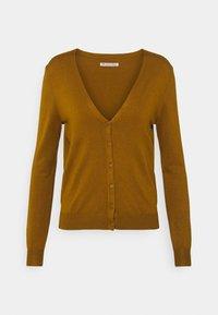 BASIC V-NECK CARDIGAN - Cardigan - light brown