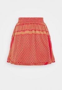 CECILIE copenhagen - SKIRT - A-line skirt - camel/red - 1