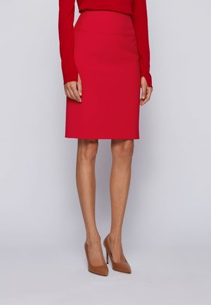 VACRIBA - Pencil skirt - red