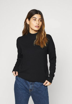 CABLE KNIT JUMPER - Svetr - black