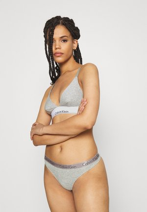 THONG 3 PACK - Perizoma - grey heather/pale blue/flambe