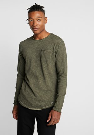 CHIBS - Long sleeved top - vintage oily green
