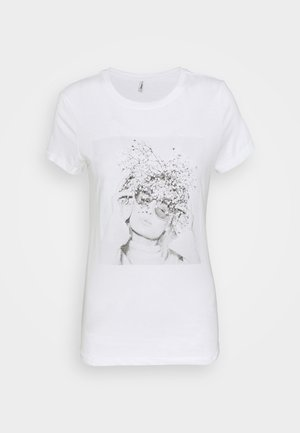 ONLELLIE LIFE BOX  - T-Shirt print - bright white
