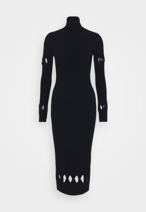 LONG SLEEVE NECK FITTED - Jumper dress - navy