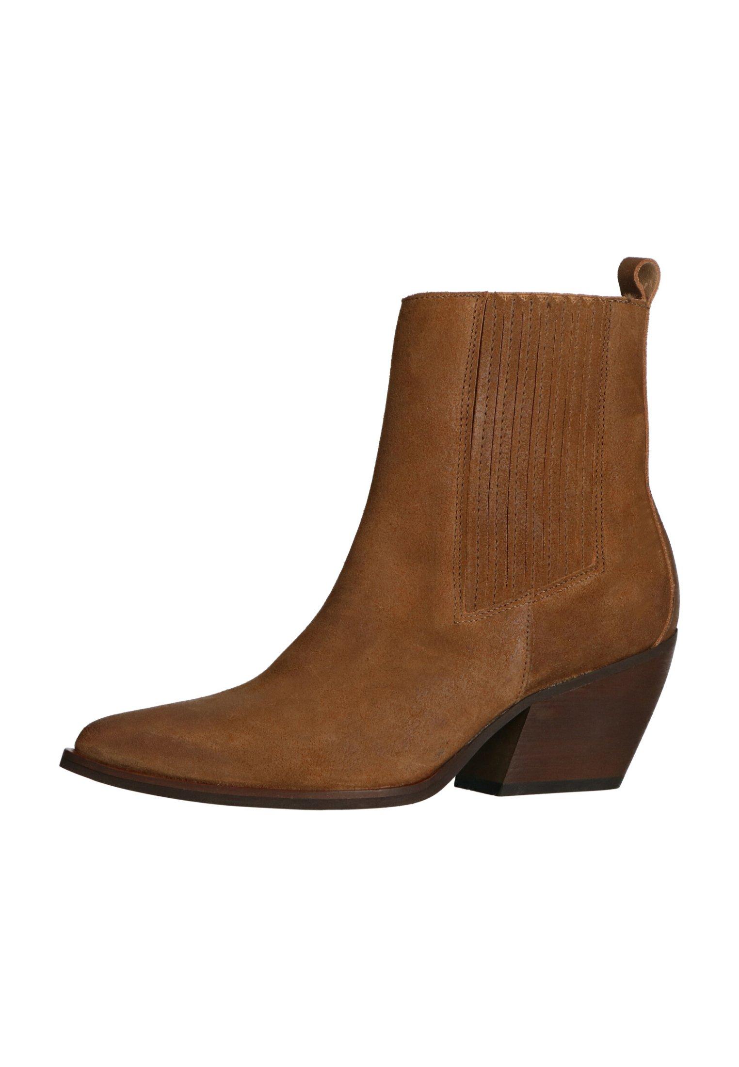 Manfield WESTERN - Cowboy-/Bikerstiefelette - braun | Damen Schuhe 2020