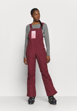 RIDEOUT BIB - Snow pants - oxblood red
