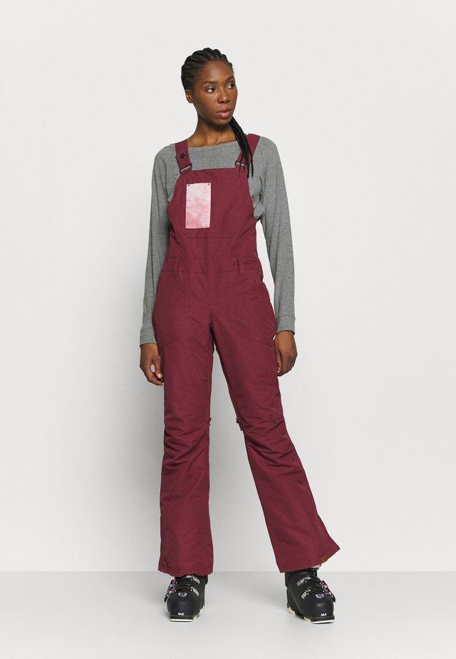 RIDEOUT BIB - Snow pants - oxblood red