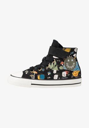 CHUCK TAYLOR ALL STAR - Korkeavartiset tennarit - black/bold mandarin/amarillo