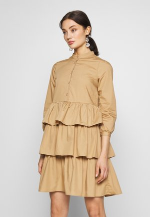 SHIRT DRESS - Vestido camisero - tannin