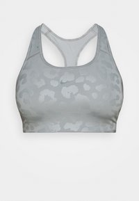 LEOPARD SHINE BRA - Medium support sports bra - particle grey