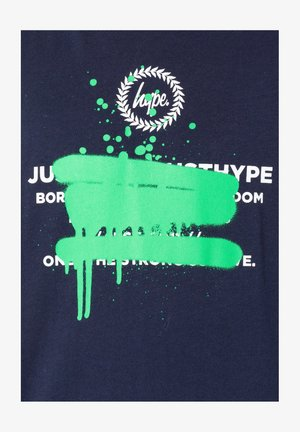 SPRAY GRAFFITI - Print T-shirt - navy