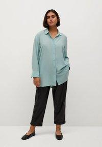 Violeta by Mango - SEDERA - Button-down blouse - wassergrün - 1