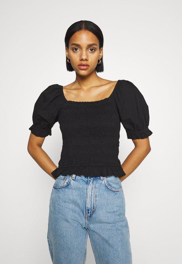 JDYSILA LIFE SMOCK - T-shirts basic - black