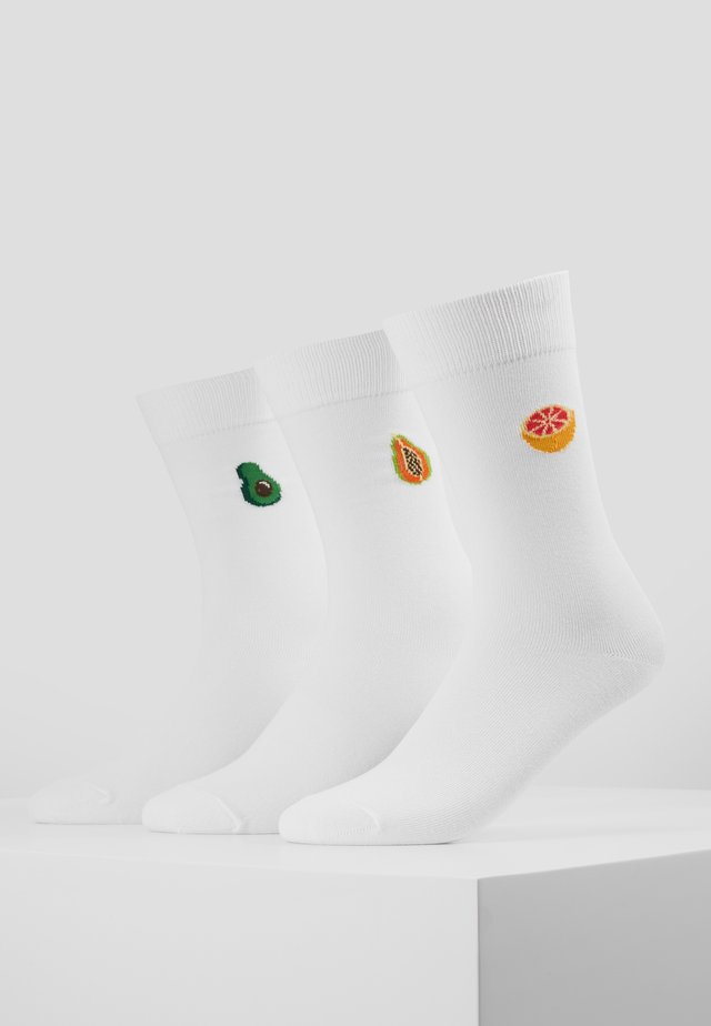 5 PACK - Chaussettes - white