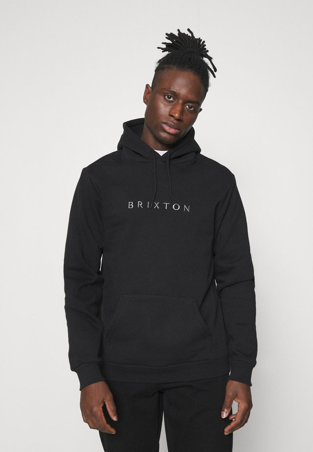 ALPHA LINE HOOD - Sweatshirt - black