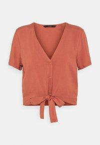 Vero Moda - VMSIMPLY EASY TIE  - Print T-shirt - marsala - 0