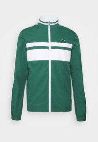 Lacoste Sport - TRACK SUIT - Tracksuit - bottle green/white - 1