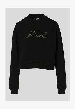W/ LOGO - Sweatshirt - black