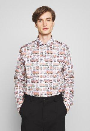 SLIM FIT  - Camicia - white/multi-coloured