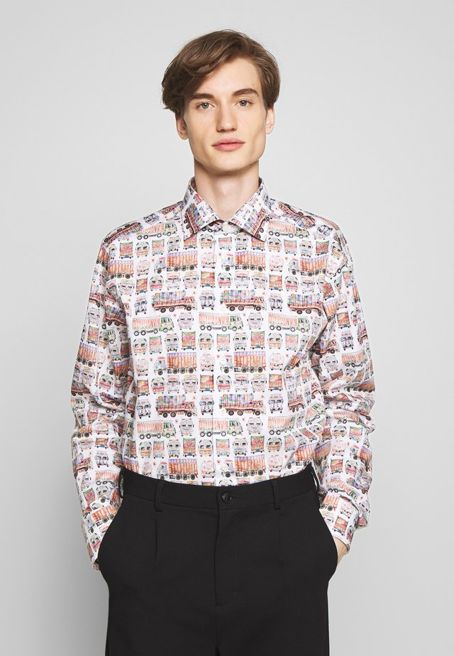 SLIM FIT  - Shirt - white/multi-coloured