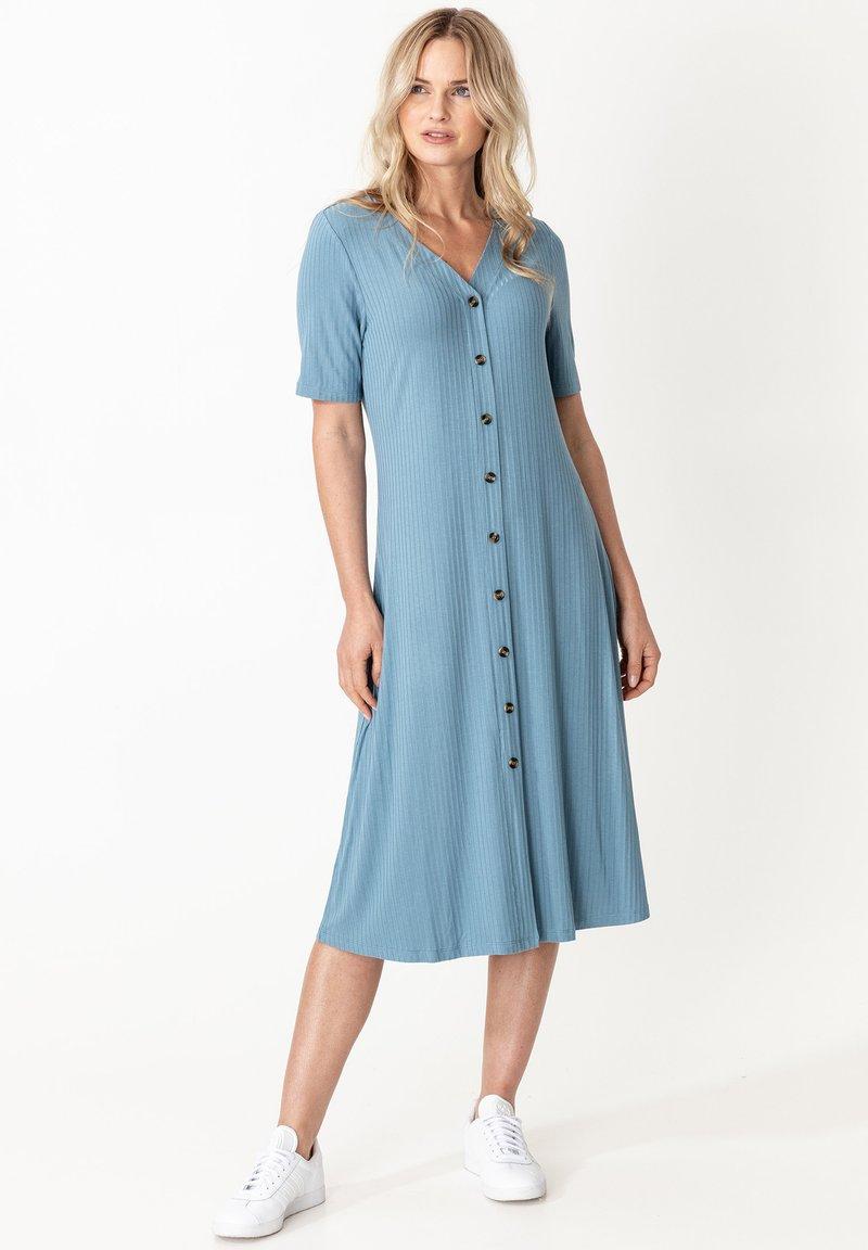 Indiska - DRESS MAYA - Shirt dress - blue
