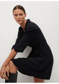 Mango - LEANDRA - Shirt dress - černá - 3