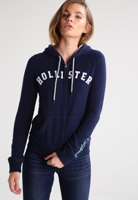 Hollister Co. - CORE - Zip-up hoodie - navy - 0