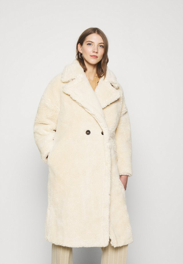 BORG COAT - Mantel - cream