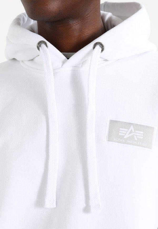 Alpha Industries BACK PRINT HOODY - Bluza z kapturem - weiss/biały Odzież Męska PDGK