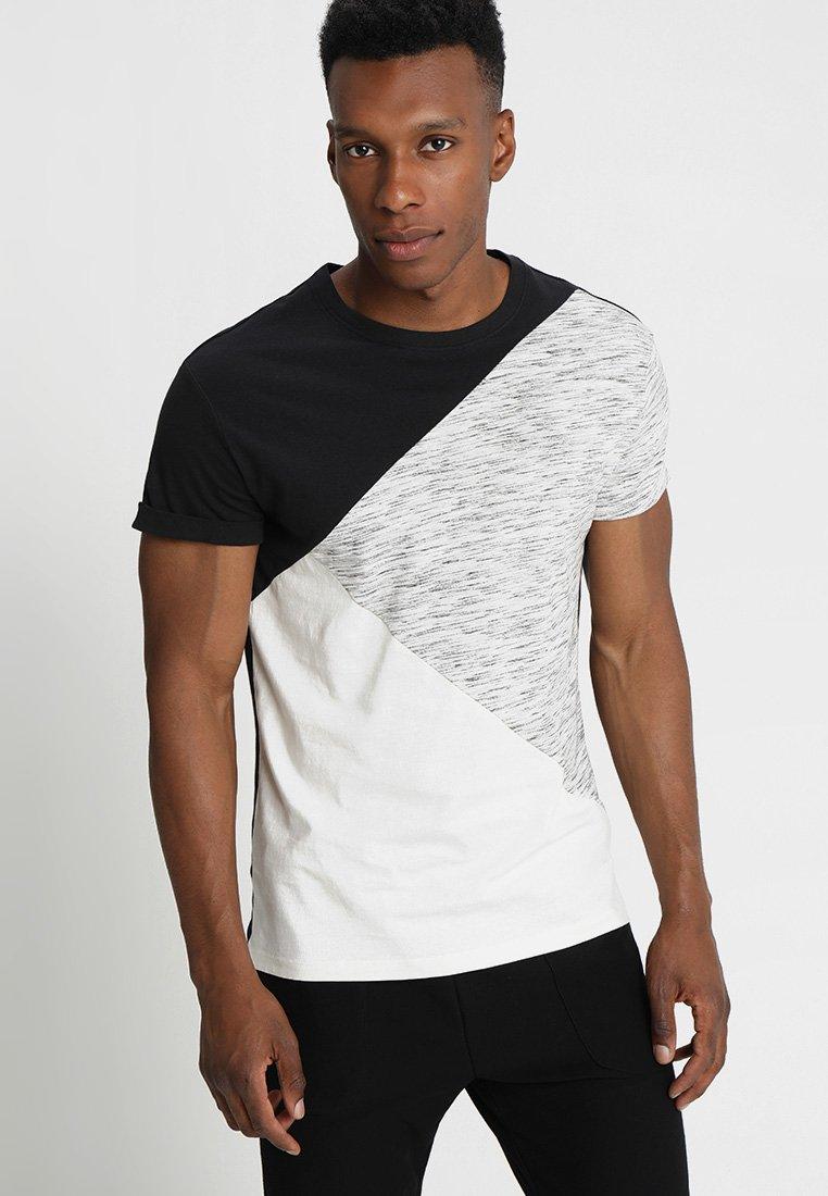 YOURTURN - Print T-shirt - black/off-white