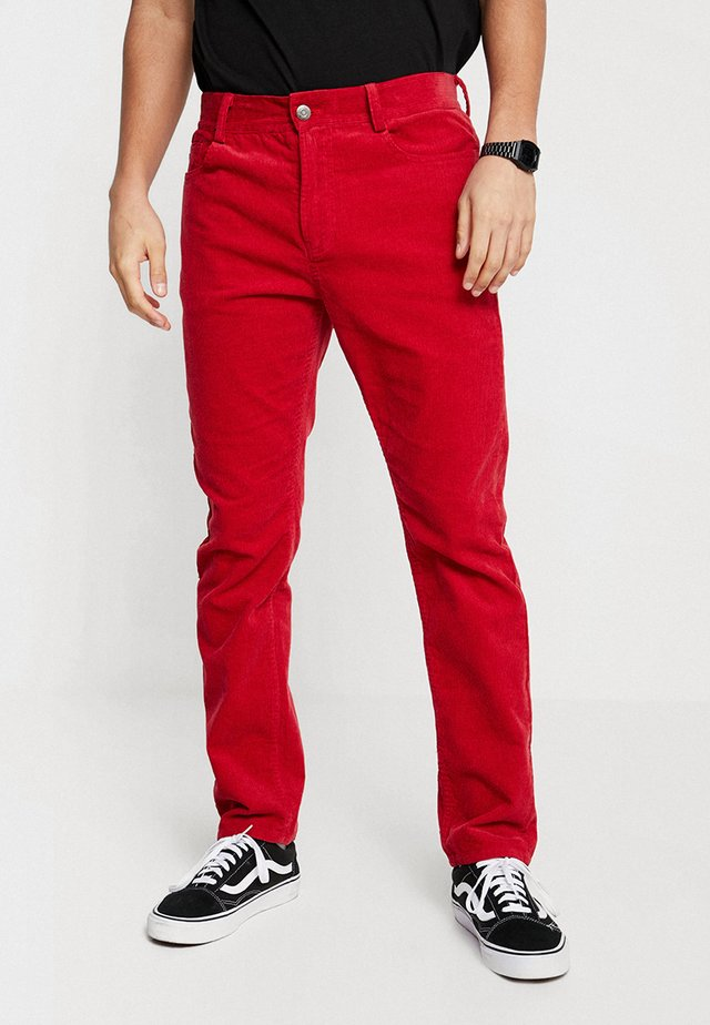 PANTS STRAIGHT LEG - Trousers - red