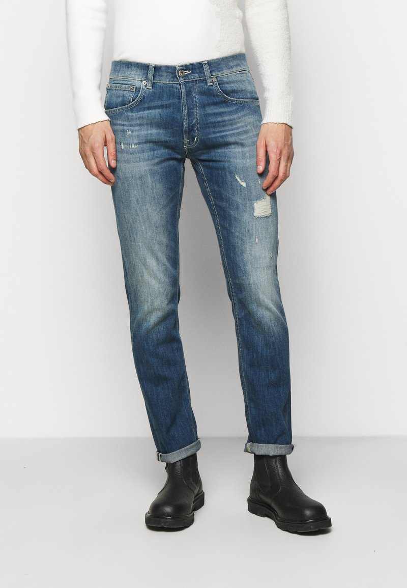 Dondup - PANTALONE QUENTIN - Straight leg jeans - destroyed denim