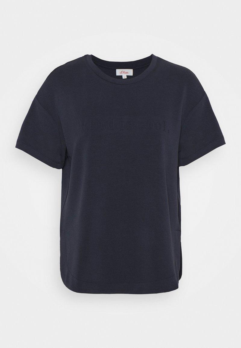 s.Oliver - KURZARM - T-shirts - navy