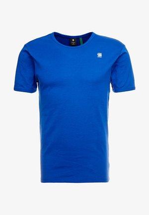 BASE R T S/S - Basic T-shirt - blue/white