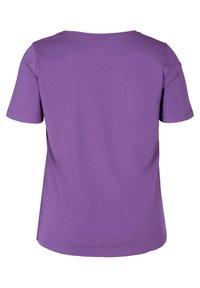 Zizzi - T-shirt basic - purple - 5