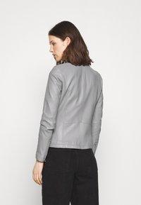 Oakwood - PRESTIGE - Leather jacket - light grey - 2